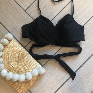Black Wrap Bikini Top